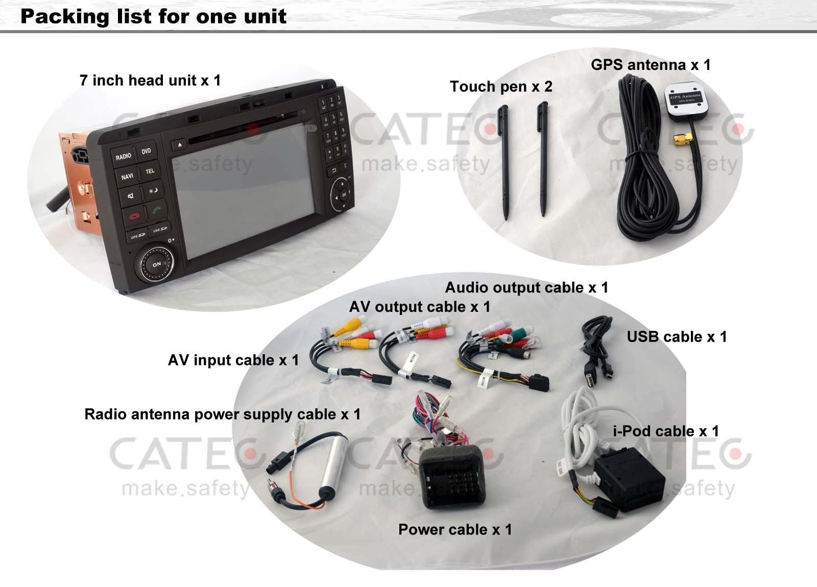 car DVD player GPS navigation radio head unit Mercedes-Benz R class W251