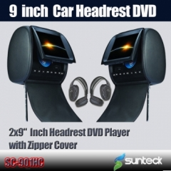 9 headrest dvd
