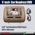 9 inch pillow headrest DVD player with speaker TV optioal