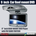9 inch car flip down DVD player with SONY Len digital screen 32bit game