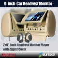 9 inch car pillow monitor player with zipper cover and IR funtion