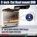 9 inch car roof mount DVD player 800X480 pixel digital screen