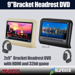 bracket headrest dvd