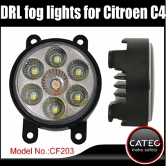 LED daytime running lights Citroen C4