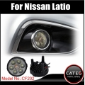LED DRL fog lights for Nissan Latio C11 C12 2004 - 2014, auto spare parts for Nissan Latio