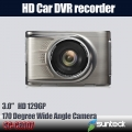 3 inch Car DVR recorder Full HD 1296P with G-sensor