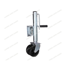 trailer jack with double wheel