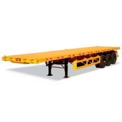 Container 3 Axle Flatbed Truck Trailer