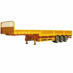 Side Wall Tri-axle Cargo Fence Semi-trailer
